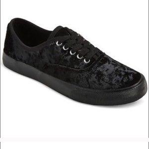 Mossimo Black Crushed Velvet Sneakers